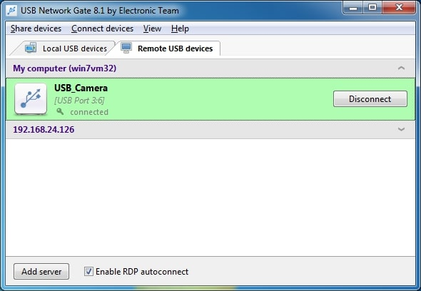 RDP USB redirection