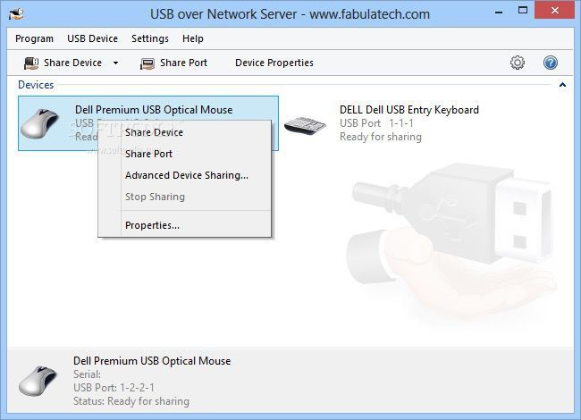 An alternative to USB Redirector - USB over Network software