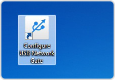 Installing USB Network Gate on the client computer (Windows version)