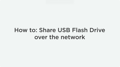 How To Share USB Drive Over Network