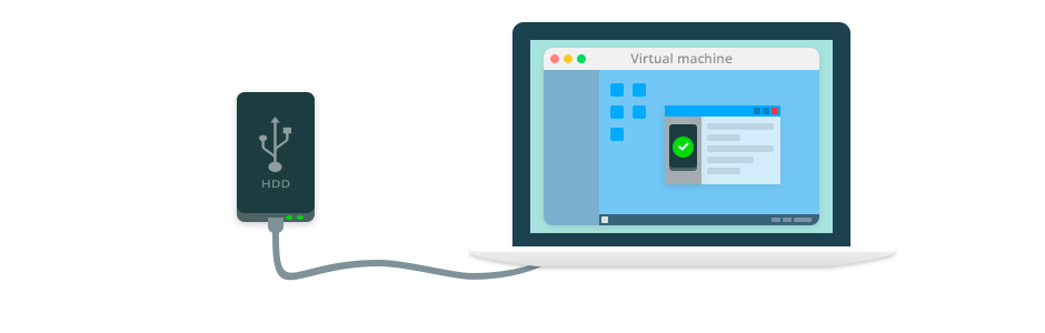 Connect USB Devices to a Virtual Machine!