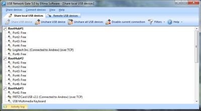Click to view USB Network Gate 5.0 screenshot